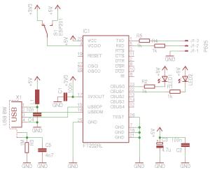 Schaltplan USB-Seriell-Adapter